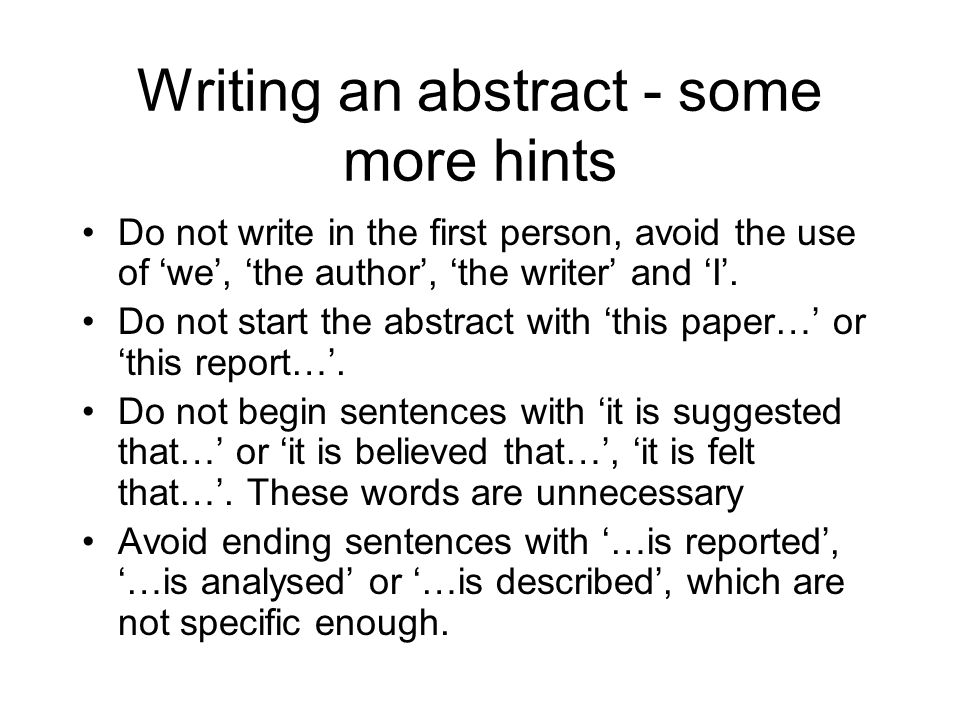how to avoid using first person in academic writing