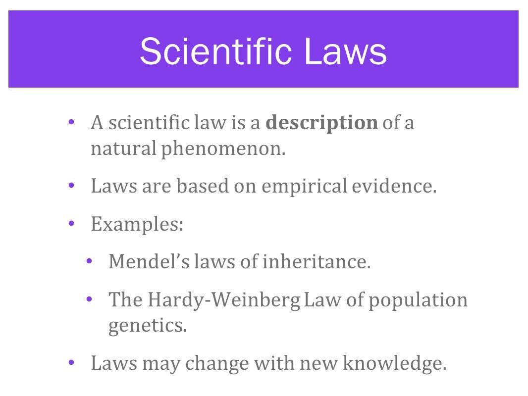 Scientific Law Examples