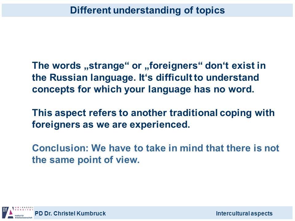 Different understanding of topics