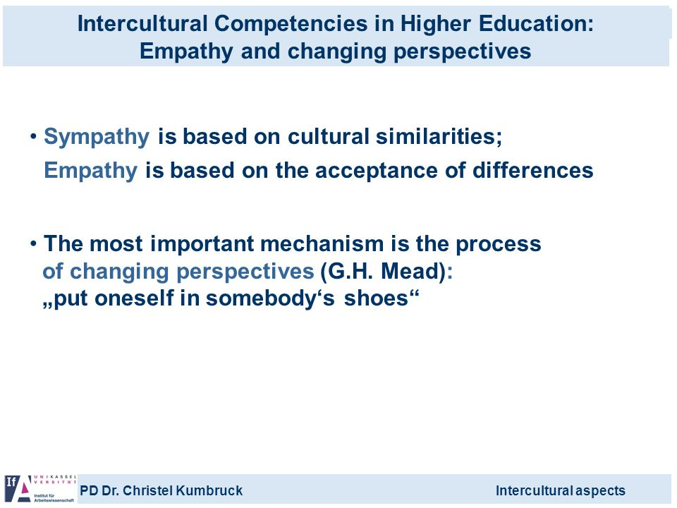 Intercultural Competencies in Higher Education: Empathy and changing perspectives