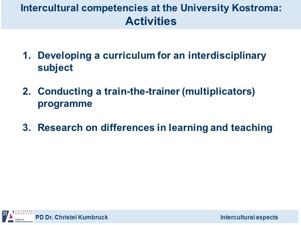 Intercultural competencies at the University Kostroma: Activities