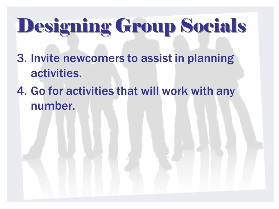 Designing Group Socials