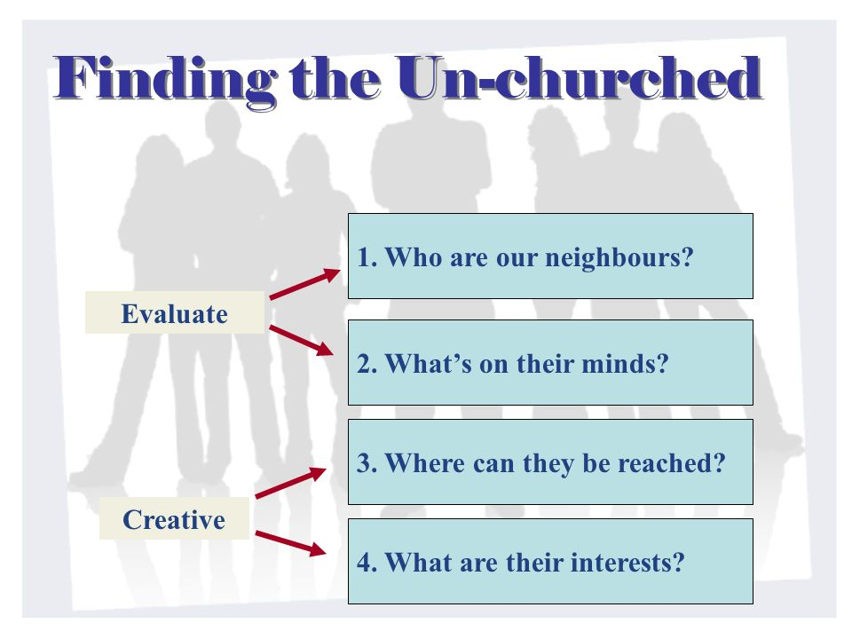 Finding the Un-churched