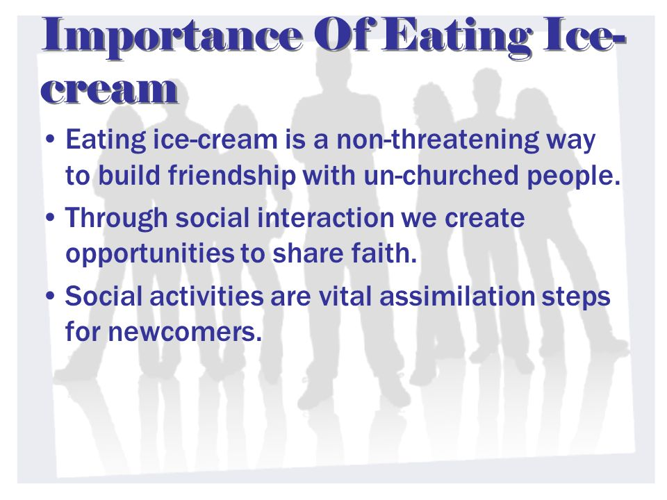 Importance Of Eating Ice-cream