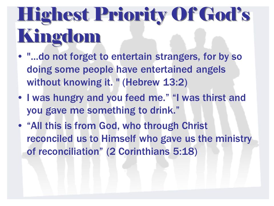 Highest Priority Of God's Kingdom