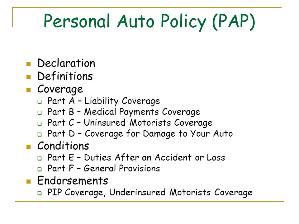 Direct General Auto Insurance >> Topic 12 Personal Automobile Insurance - ppt video online download