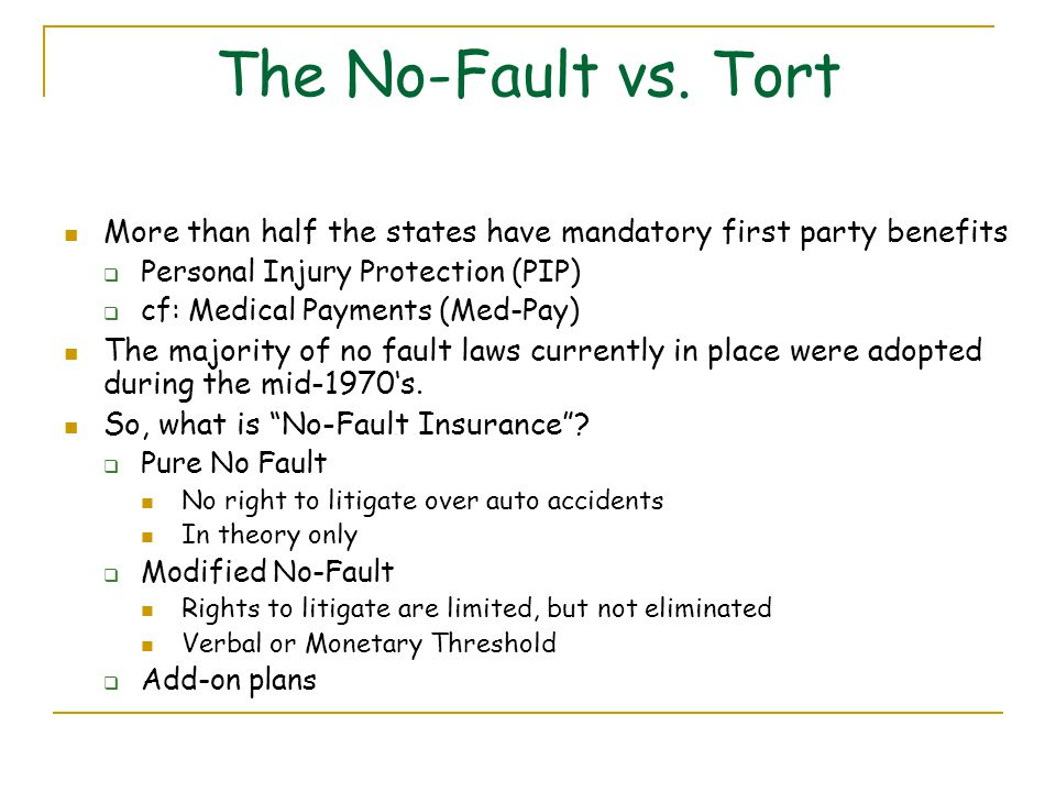 Is Ohio A No Fault State For Auto Insurance , Topic 12 Personal Automobile Insurance - ppt video online download