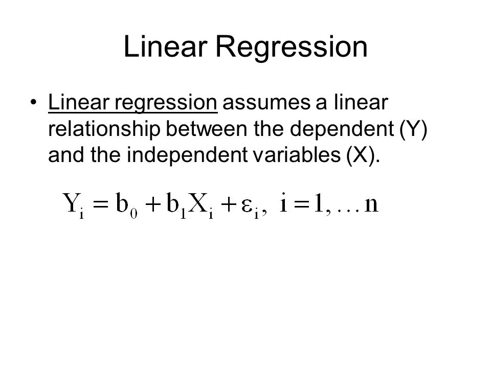 linear regression relationship between variables