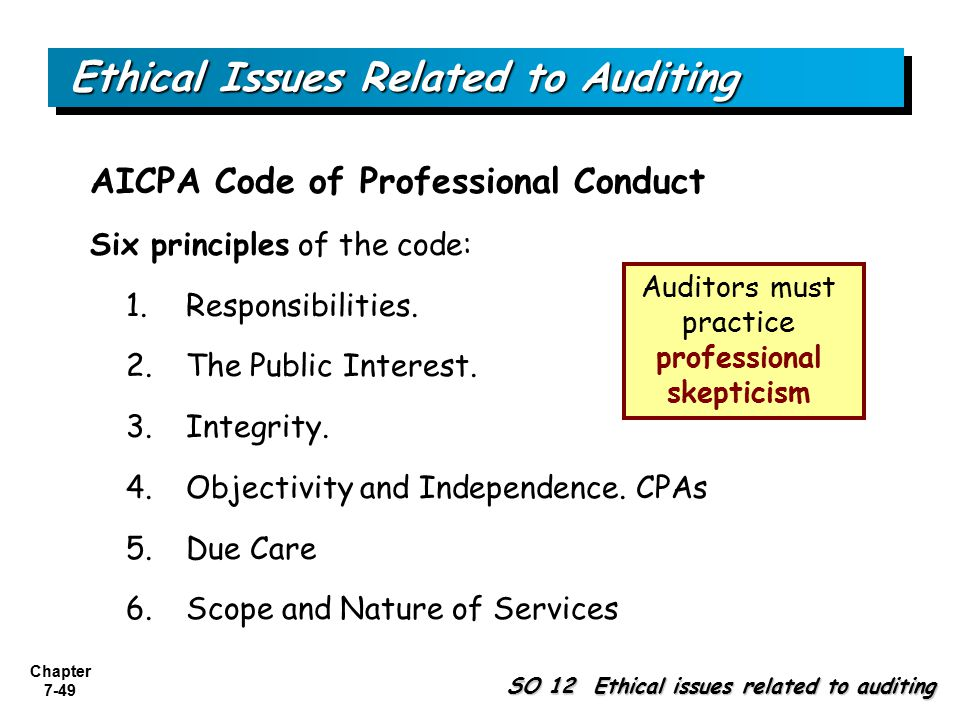 auditing report ethical issues Auditing culture & ethics •acfe report to the nation 10 federal sentencing guidelines teach employees and talk about issues.