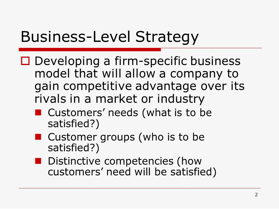 "business level strategies generic strategies essay This is ""understanding business-level strategy through ""generic strategies"""", section 51 from the book strategic management: evaluation and execution (v 10."