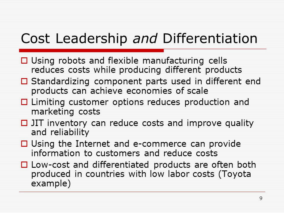 understanding the idea of cost leadership through low product differentiation Product differentiation found in: presenting cost leadership strategy ppt ideas this is a cost leadership strategy ppt ideas low cost, advantage, product.