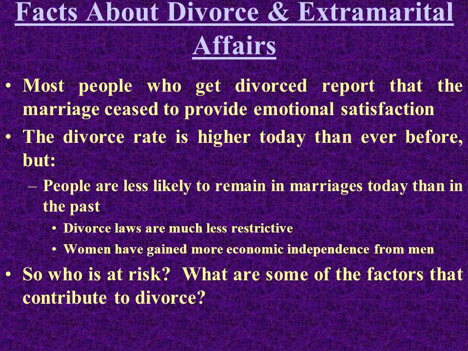 The factors contributing to the rising divorce rates