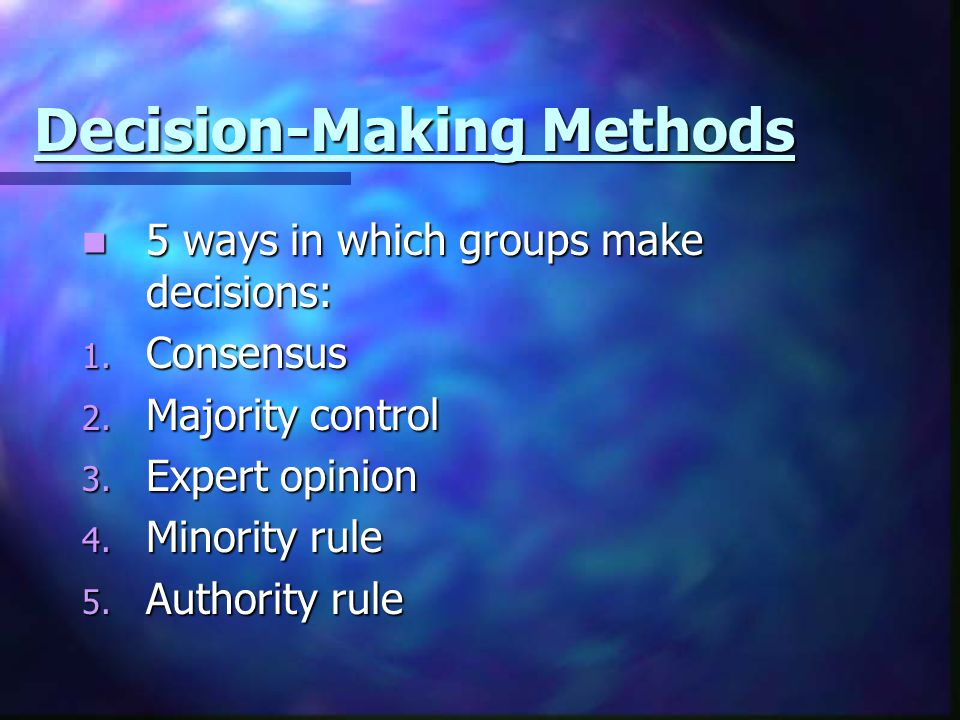 Decision-Making Methods
