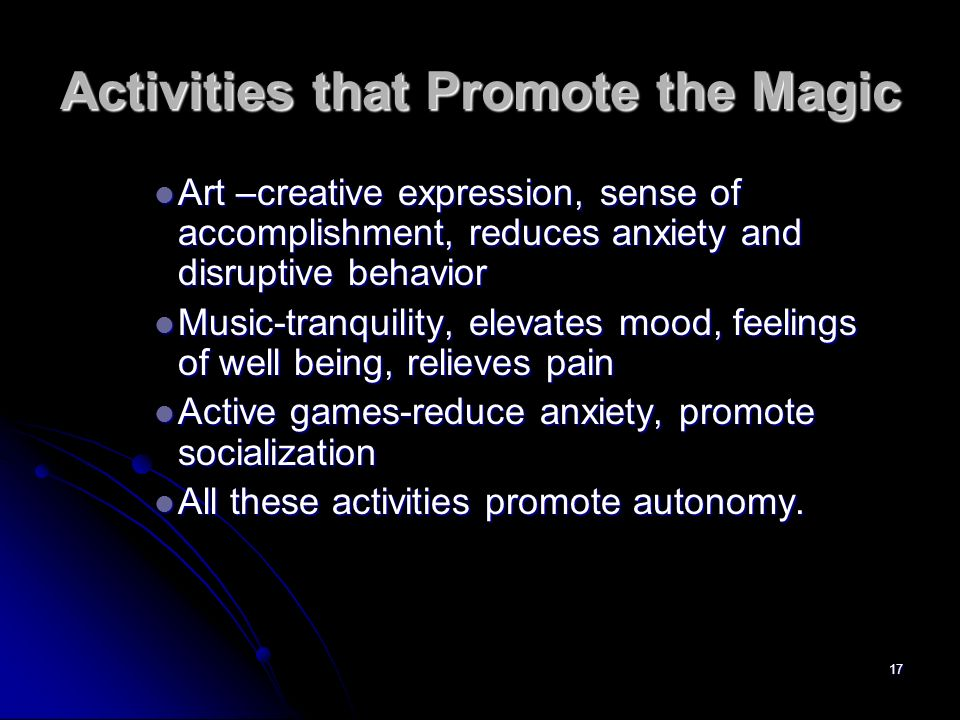 Activities that Promote the Magic