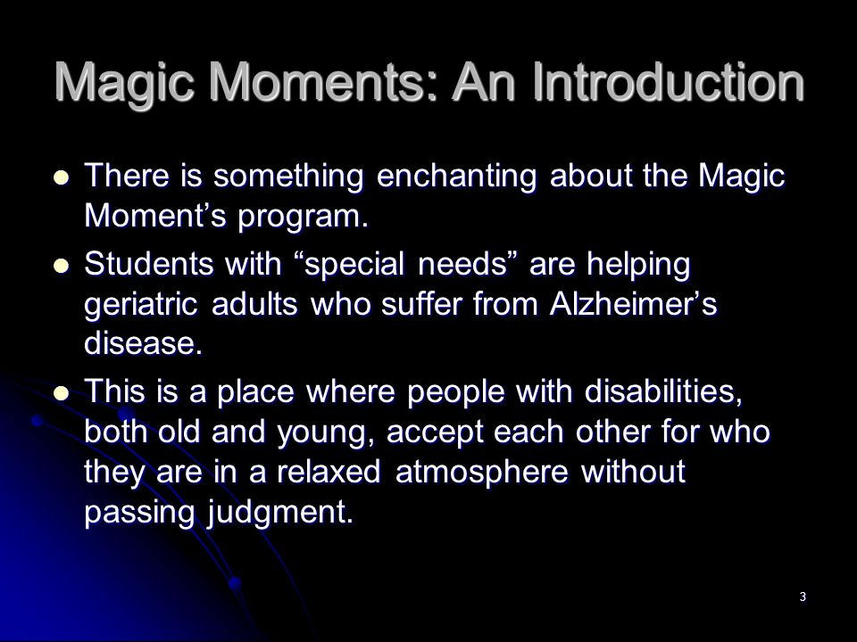 Magic Moments: An Introduction
