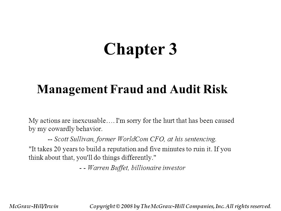 Management Fraud and Audit Risk