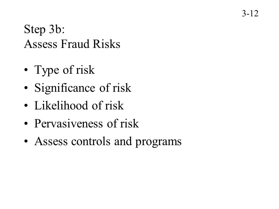 Step 3b: Assess Fraud Risks