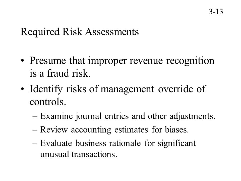 Required Risk Assessments