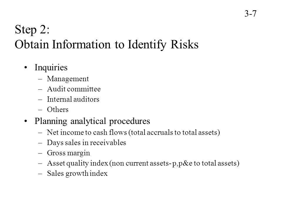 Step 2: Obtain Information to Identify Risks