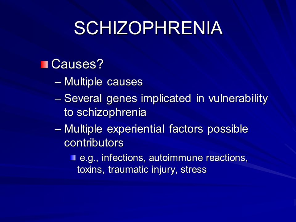 What Causes Schizophrenia?