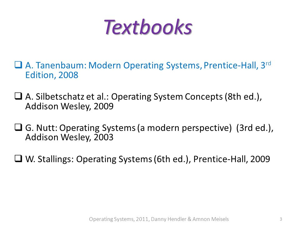 Systems modern edition ebook tanenbaum 3rd free download operating