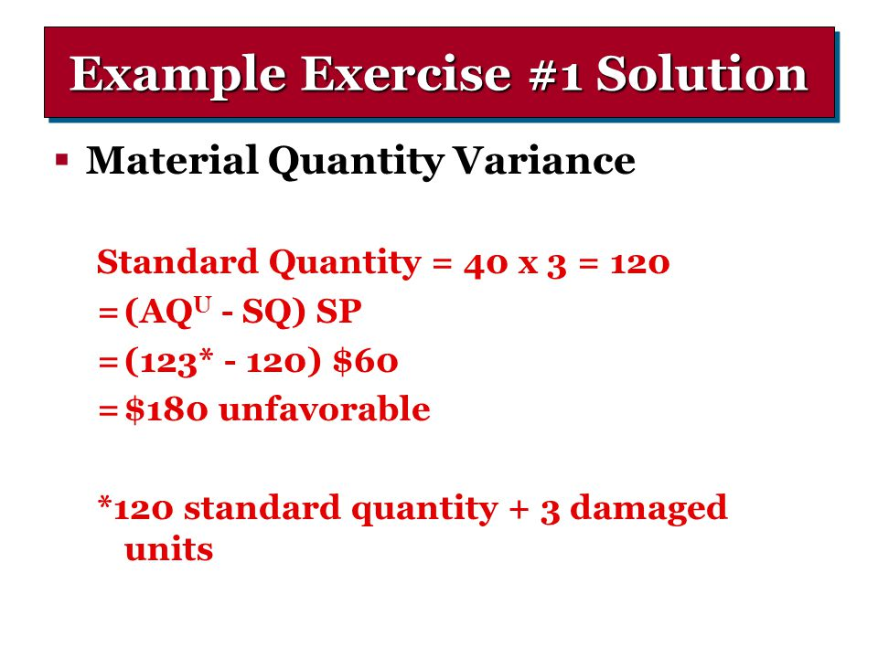 Example Exercise #1 Solution