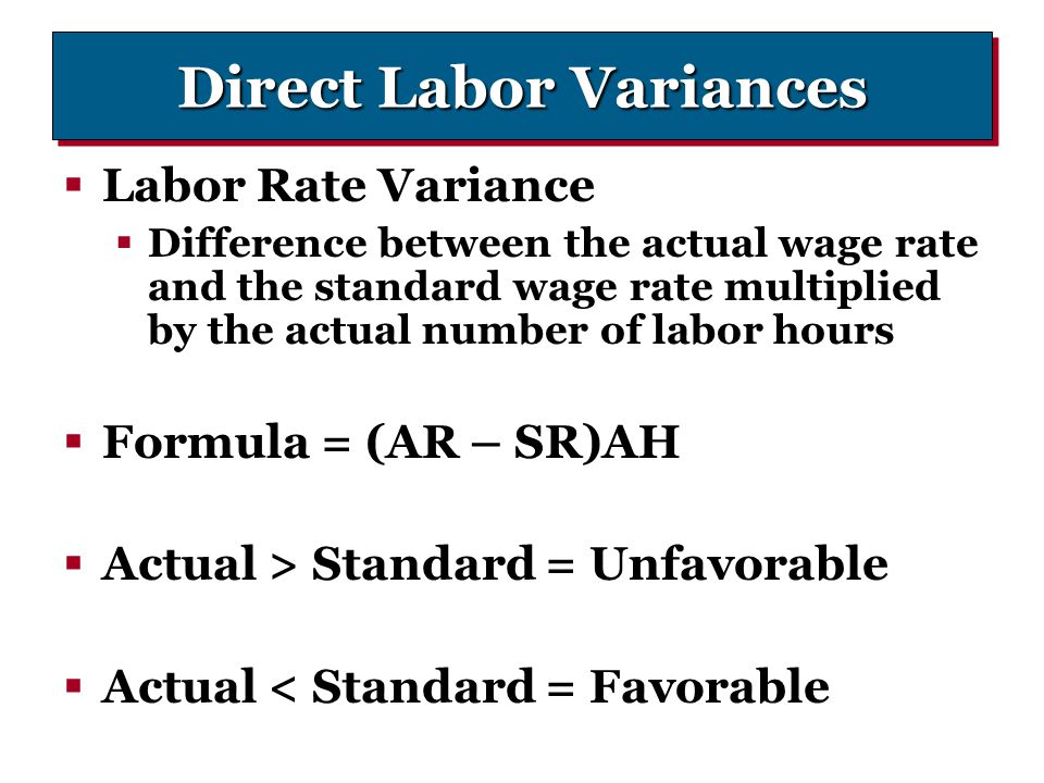 Direct Labor Variances