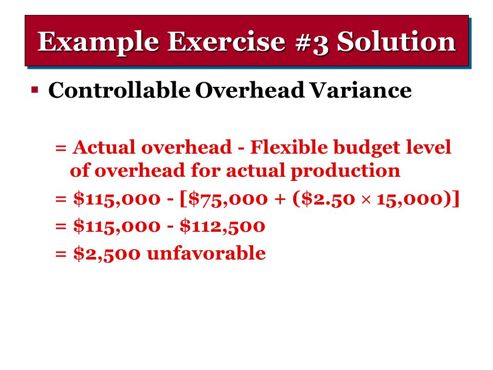 Example Exercise #3 Solution