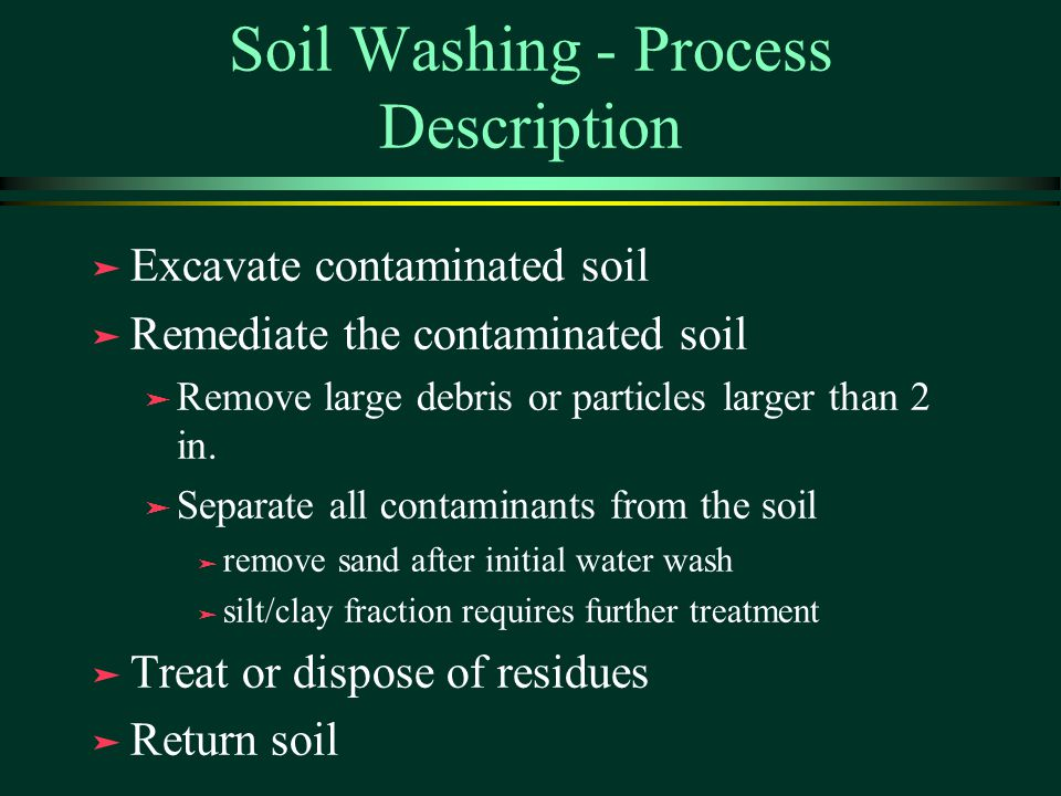 how to clean contaminated soil
