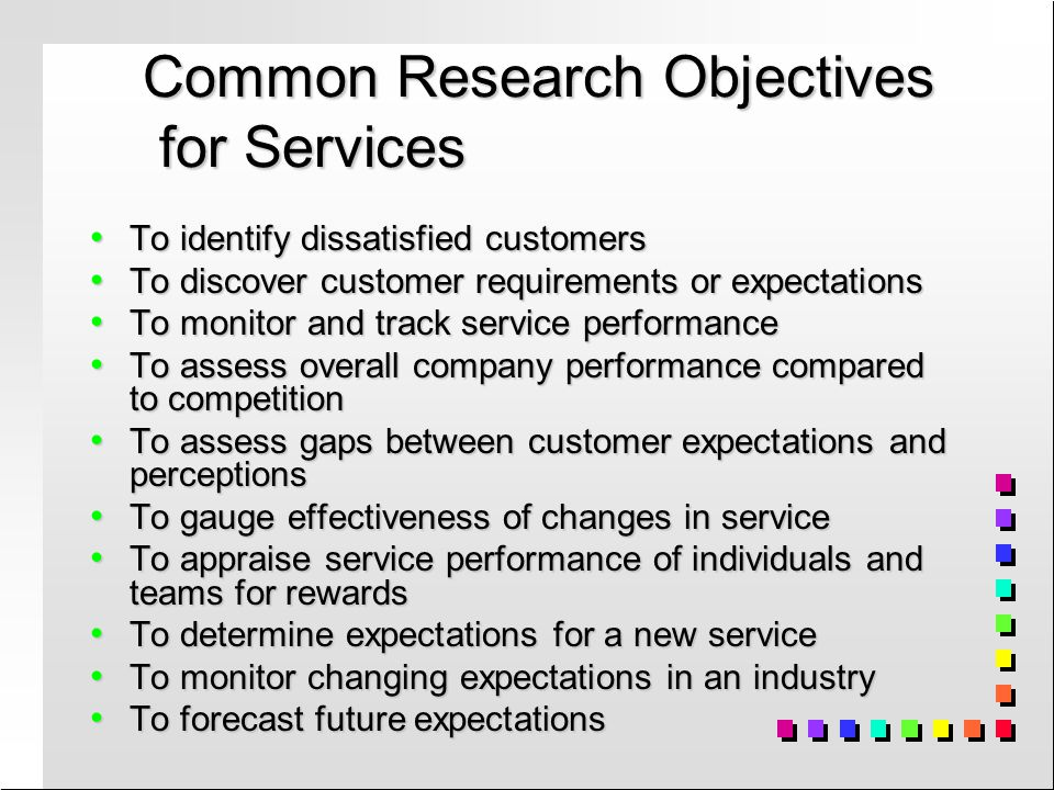 objectives of customer service