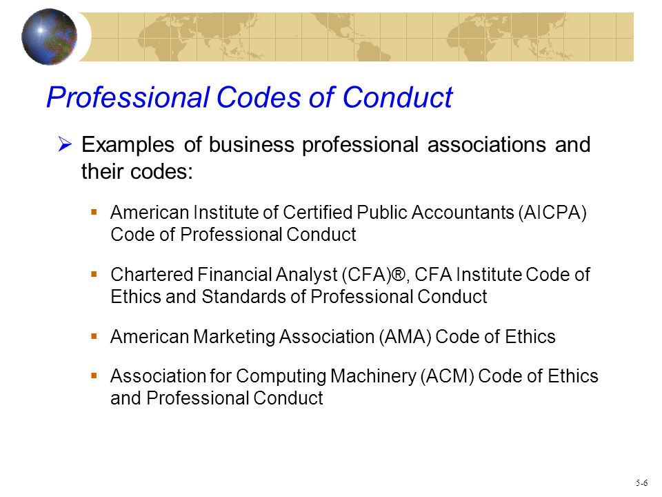 Business code of ethics wajeb Gallery