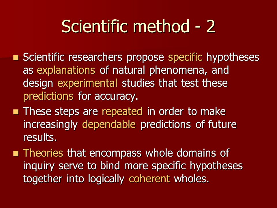Scientific method - 2