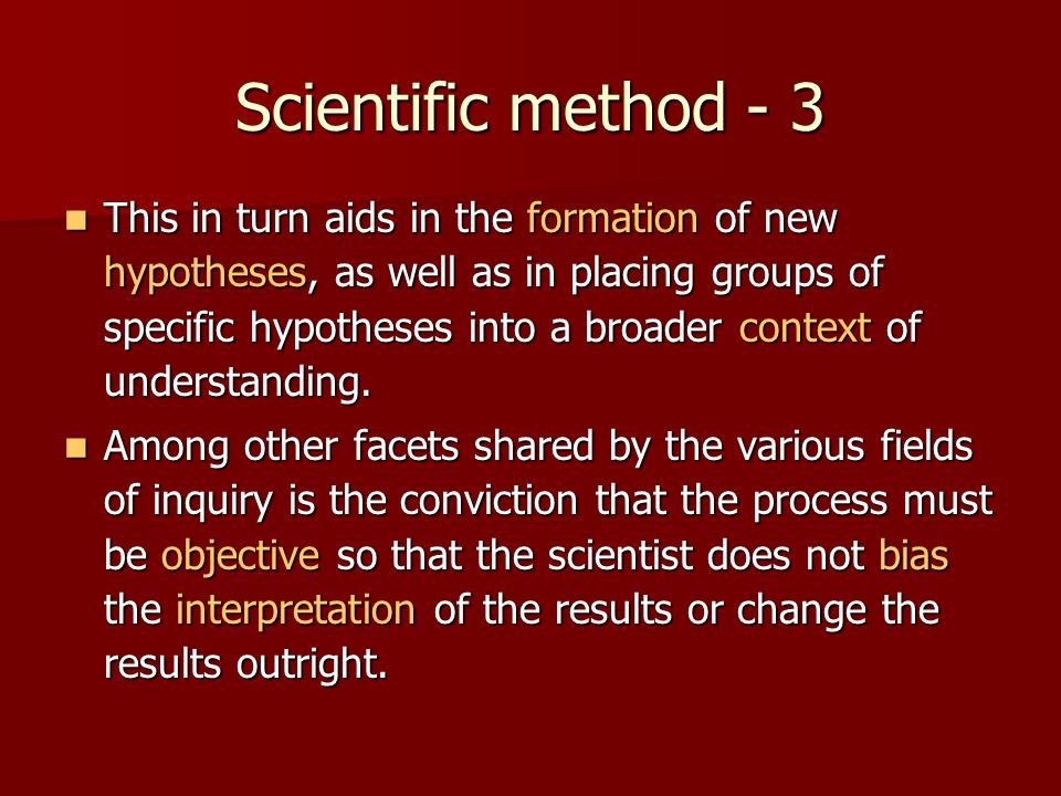 Scientific method - 3