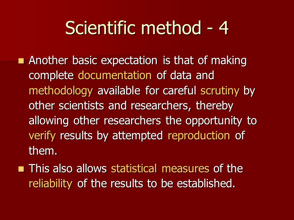 Scientific method - 4