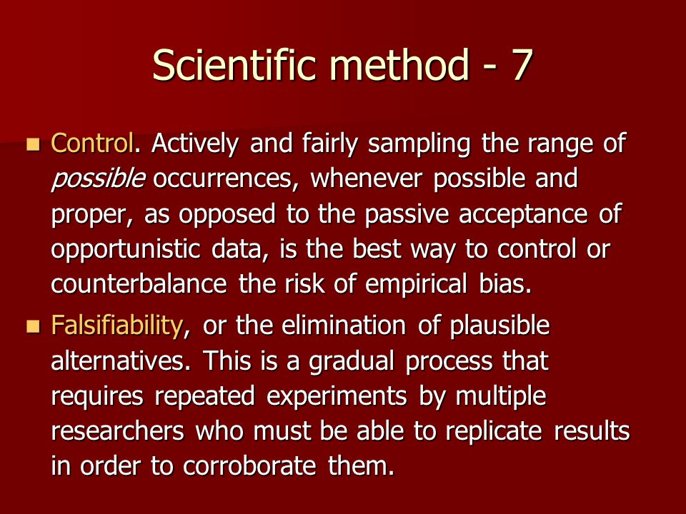 Scientific method - 7