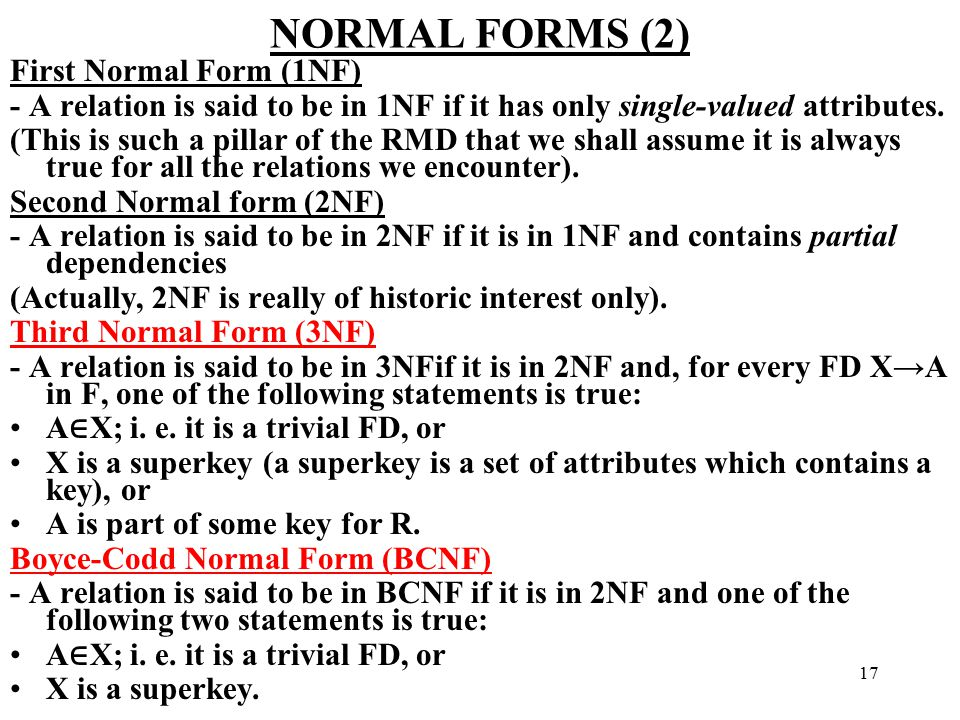 CHAPTER 19 SCHEMA, REFINEMENT AND NORMAL FORMS - ppt download