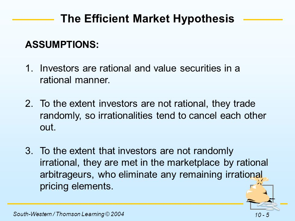 a report on the internet related stock market and the importance of efficient market hypothesis emh  Hypothesis and the extent to which they can be explained by behavioural finance theories finance that is based on rational and logical theories, such as the capital asset pricing model (capm) and the efficient market hypothesis (emh.