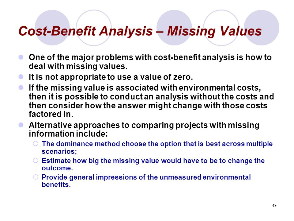 valuation criteria for cost benefit analysis This report includes a detailed cost benefit analysis of the  estimation of the  evaluation criteria on which the project assessment will be based.