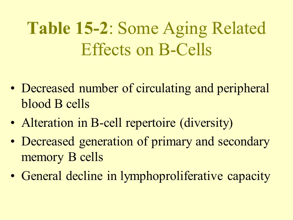 Effects of age on memory and