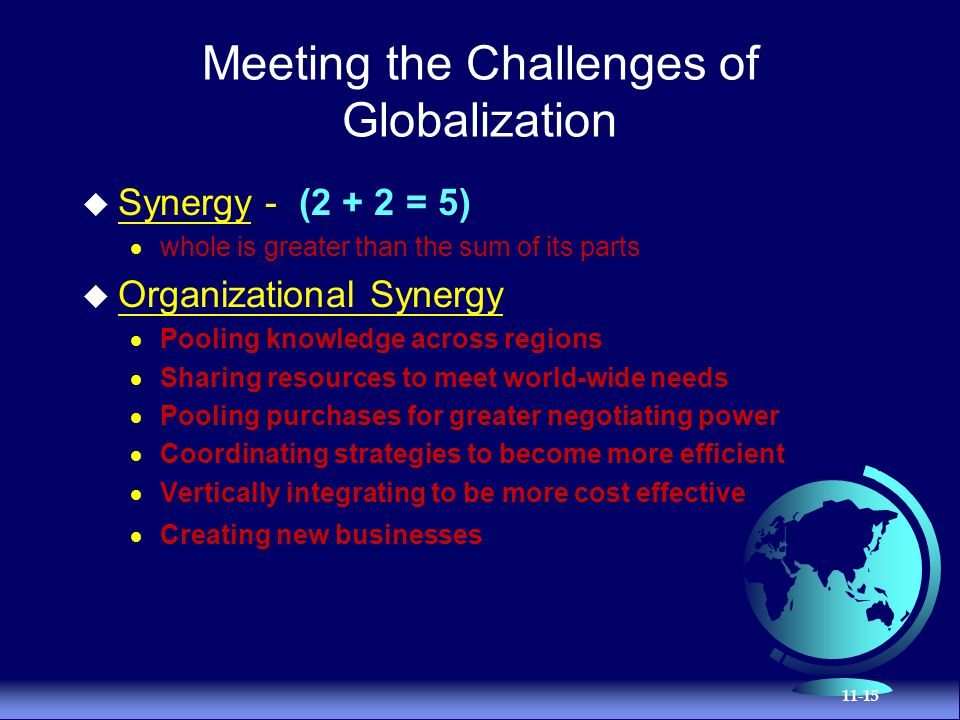 the organizational challenges and globalization strategies of mnc By taking this holistic approach, the objective is to contribute an understanding of  both the global environmental and strategic contexts, within which the.