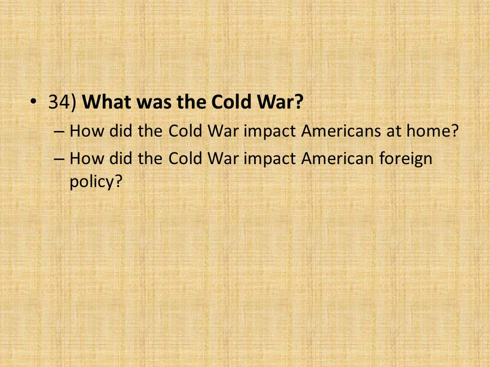 how did the cold war affect