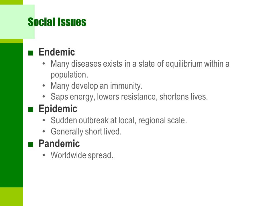 the problem of exotic diseases and epidemics Appropriate level of response the problem of response is  the hazard from dangerous exotic diseases  neither of these diseases could cause community epidemics.