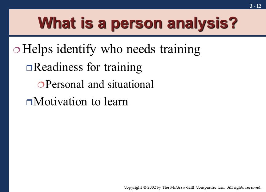 What is a person analysis