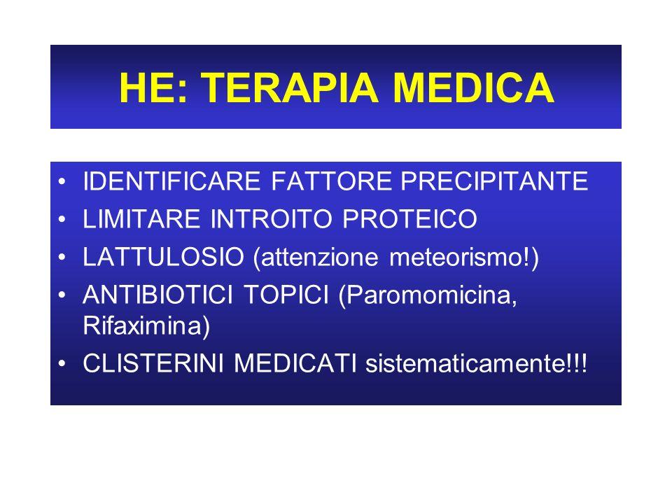 HE: TERAPIA MEDICA IDENTIFICARE FATTORE PRECIPITANTE