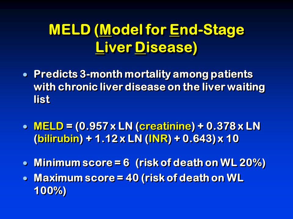 MELD (Model for End-Stage Liver Disease)
