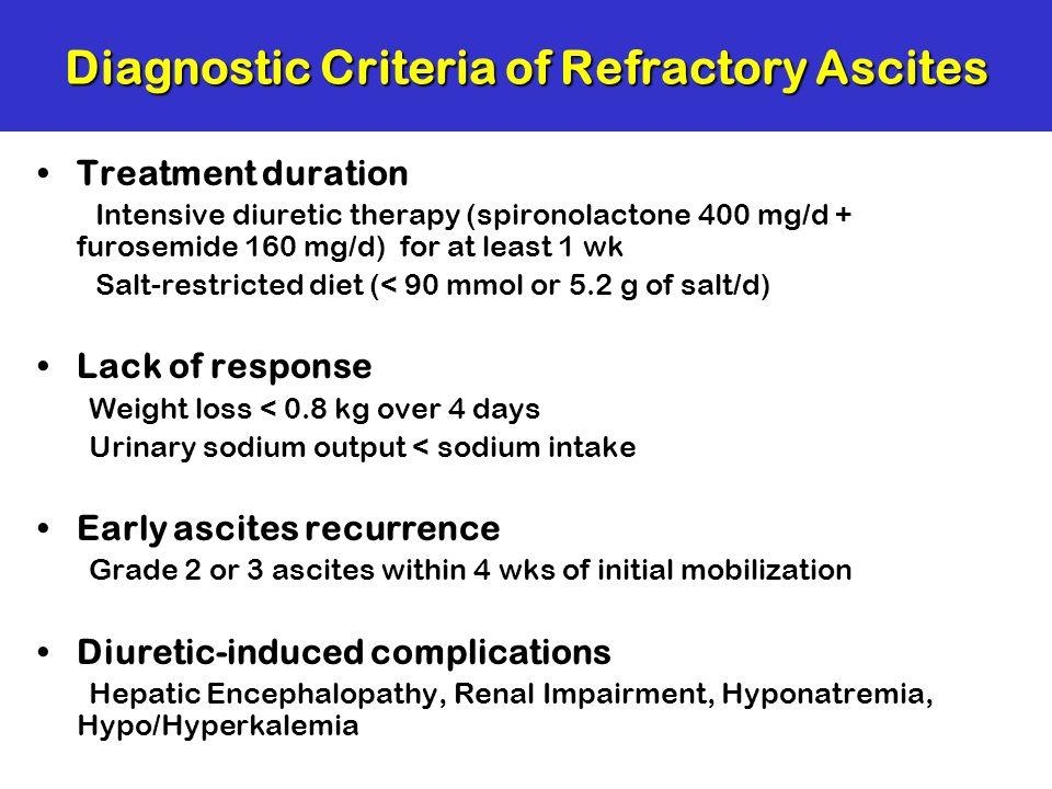 Diagnostic Criteria of Refractory Ascites