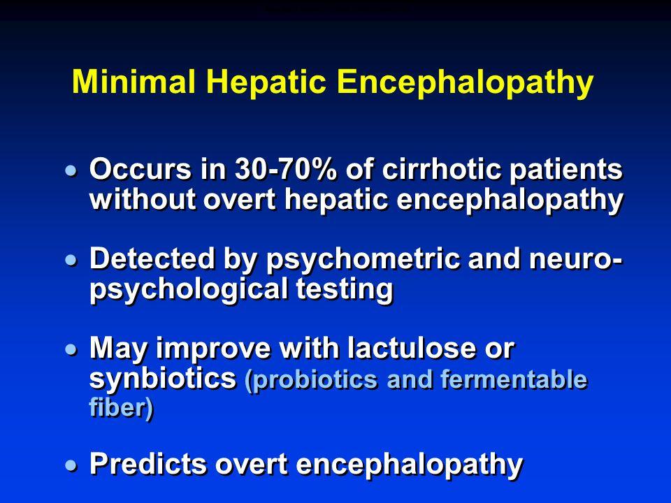 MINIMAL HEPATIC ENCEPHALOPATHY