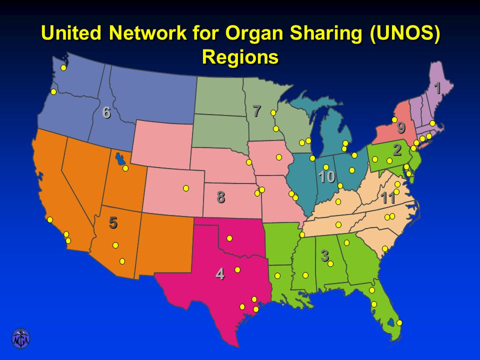 United Network for Organ Sharing (UNOS) Regions