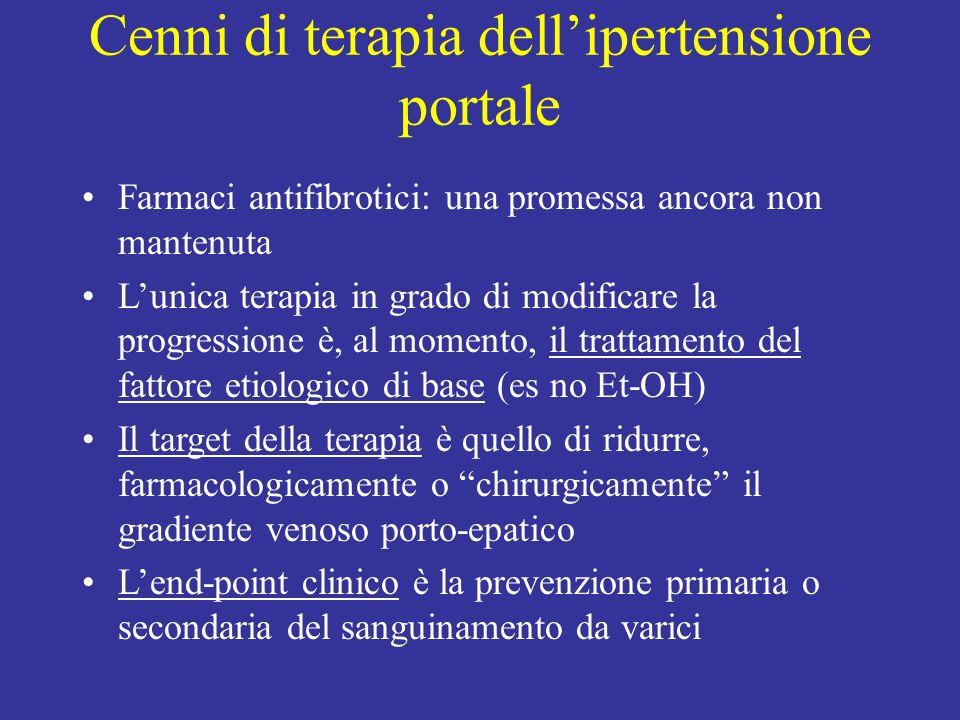 Cenni di terapia dell'ipertensione portale