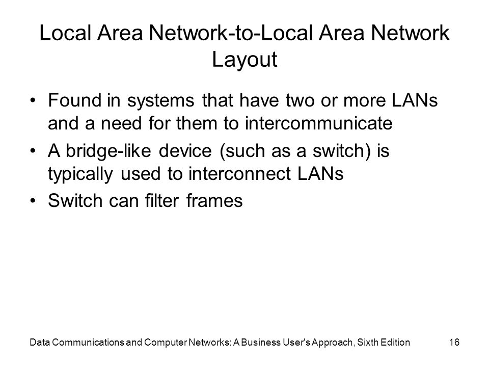 Local Area Network-to-Local Area Network Layout